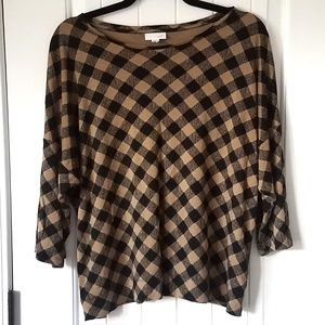 J jill  checkered top
